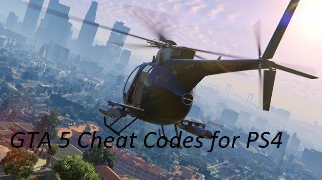 GTA V cheat codes for PS4